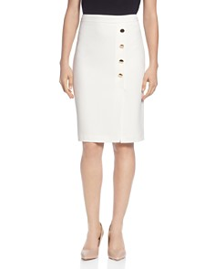 T Tahari - Button Embellished Pencil Skirt