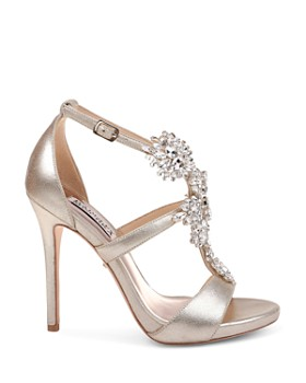 1bcc1c588 ... Badgley Mischka - Women s Leah II Embellished Metallic Suede High-Heel  Sandals