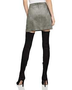 BCBGMAXAZRIA - Faux-Suede Utility Mini Skirt