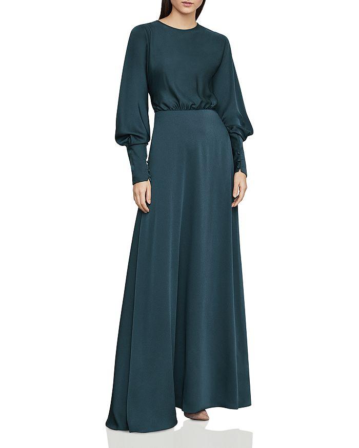 2bac154062 BCBGMAXAZRIA - Satin Draped-Back Maxi Dress