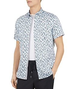 Ted Baker - Woolrus Novelty Print Slim Fit Shirt