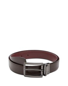 a72e93ceab352 Ted Baker - Hammok Herringbone Reversible Leather Belt ...