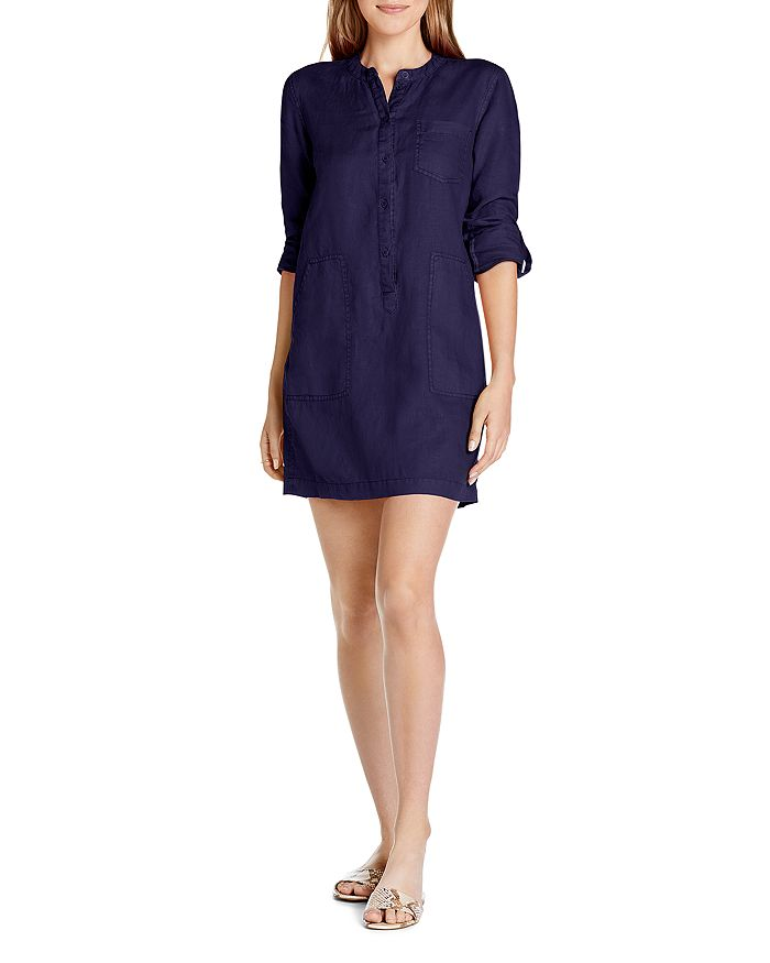 Michael Stars - Molly Linen Mini Shirt Dress