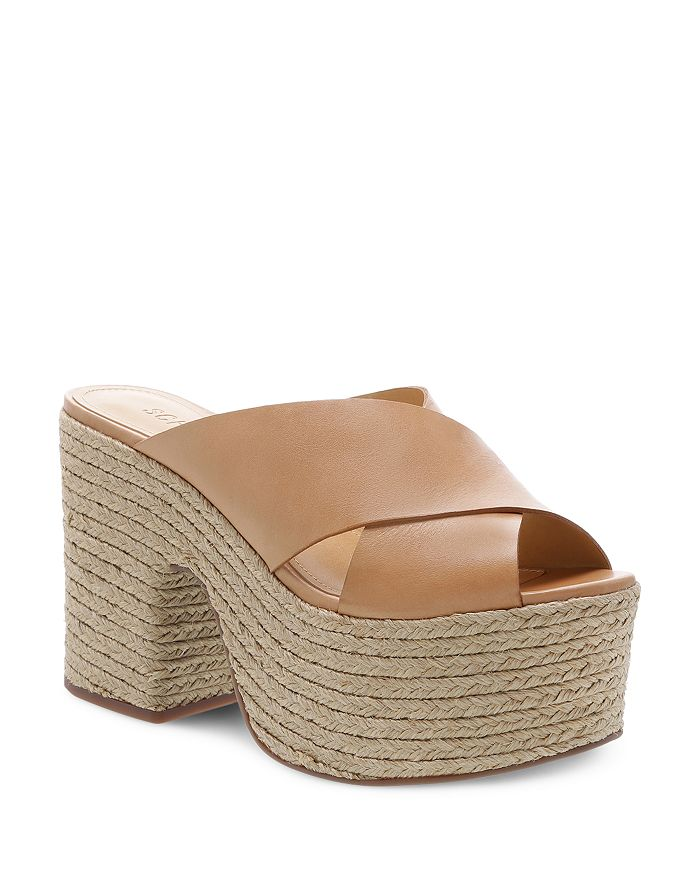 1724cd13d8d SCHUTZ - Women s Lora Leather Platform Espadrille Sandals