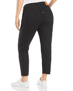 Levi's Plus - Wedgie Distressed Skinny Ankle Jeans in Black