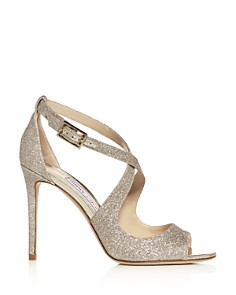 Jimmy Choo - Women's Emily 100 Crisscross High-Heel Sandals