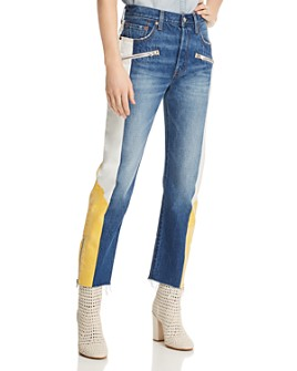 Levi's - 501 Moto Straight Jeans in Show Teeth