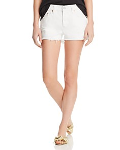 Levi's - 501 Cutoff Denim Shorts in Pearly White