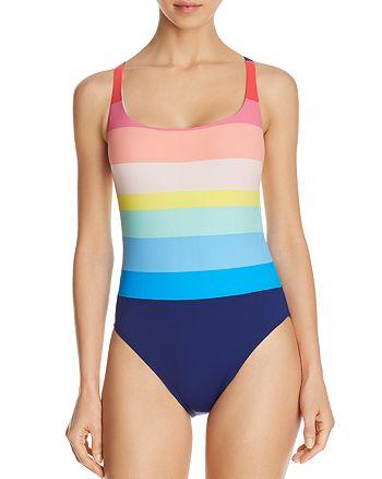 La Blanca - Striped Tank One Piece Swimsuit