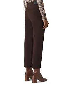 Whistles - High Rise Barrel-Leg Jeans in Chocolate