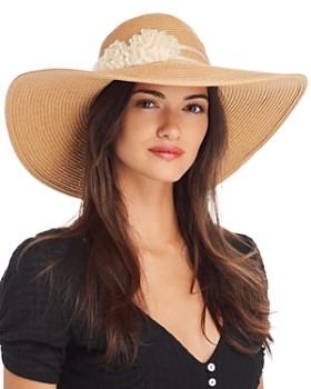 August Hat Company - Floral-Trim Floppy Hat