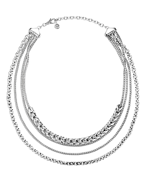 John Hardy Accessories STERLING SILVER CLASSIC CHAIN MULTI-ROW NECKLACE, 18