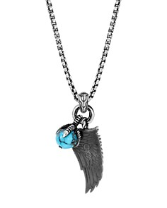 JOHN HARDY - Sterling Silver Legends Eagle Turquoise with Pyrite Amulet Pendant Necklace, 24""