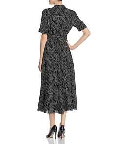 Lafayette 148 New York - Augustine Belted Geo Print Shirt Dress