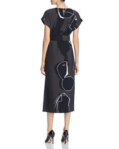 Lafayette 148 New York - Cosimia Abstract Print Midi Dress