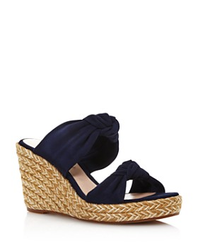 Stuart Weitzman - Women's Sarina Espadrille Wedge Slide Sandals