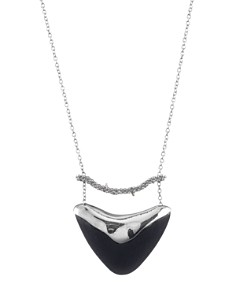 """Alexis Bittar - Crystal Accented Bar & Shield Pendant Necklace, 16"""""""