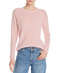 Minnie Rose - Distressed Cashmere Crewneck Sweater