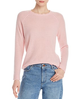 bebbe8a2b417e Minnie Rose - Distressed Cashmere Crewneck Sweater ...