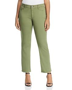 NYDJ Plus - Marilyn Straight-Leg Sateen Jeans in Olivine