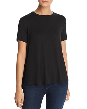 Kim & Cami Button-Back Swing Tee
