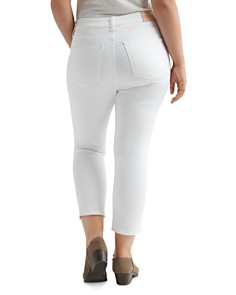 Lucky Brand Plus - Emma Cropped Skinny Jeans in White