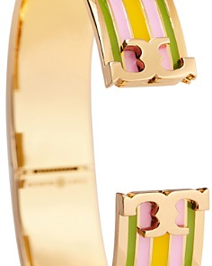 Tory Burch - Raised Logo Printed Bangle Bracelet
