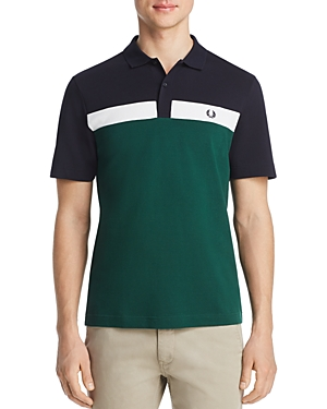 Fred Perry T-shirts COLOR-BLOCK PIQUE CLASSIC FIT POLO SHIRT