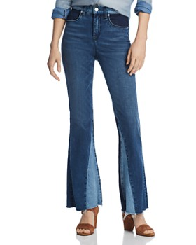 BLANKNYC - Flared Patchwork Jeans in Mix and Match
