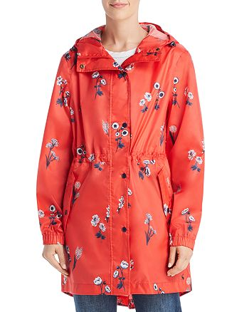 Joules - GoLightly Packable Floral Print Raincoat