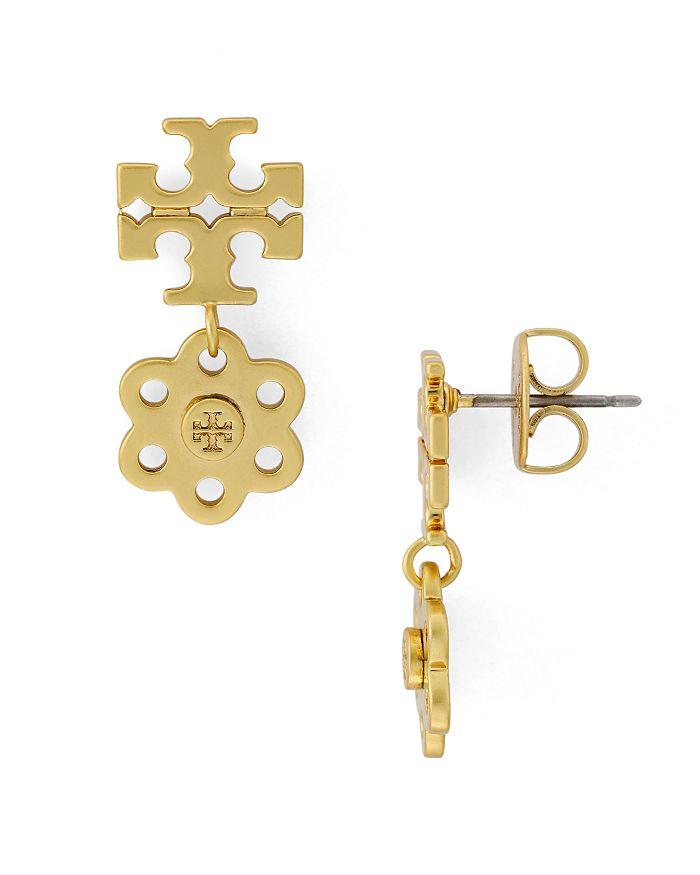 Tory Burch - Logo Charm Drop Earrings