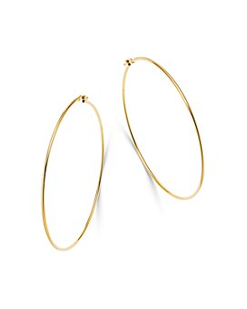 Moon & Meadow - 14K Yellow Gold Large Thin Hoop Earrings - 100% Exclusive