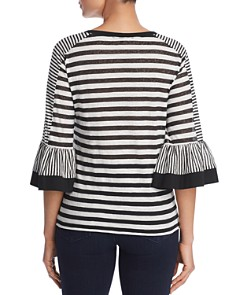 Kobi Halperin - Finn Striped Bell-Sleeve Top