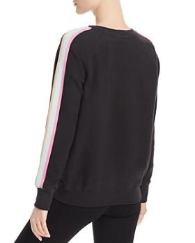 Spiritual Gangster - Happy Striped-Sleeve Sweatshirt