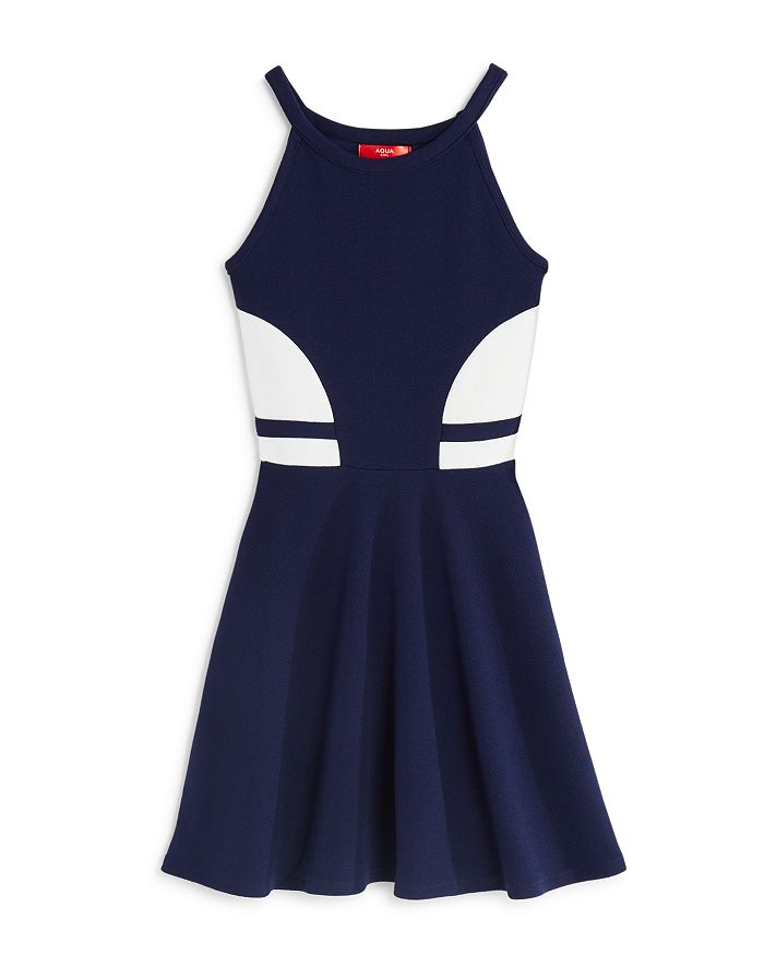 AQUA - Girls' Color-Block Dress, Big Kid - 100% Exclusive