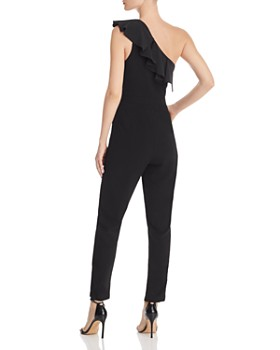 Adelyn Rae - Arden One-Shoulder Ruffle Jumpsuit