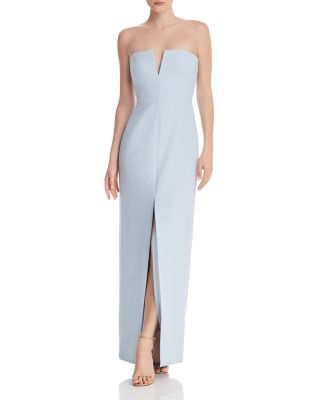 Strapless Crepe Gown   100% Exclusive by Bcbgmaxazria
