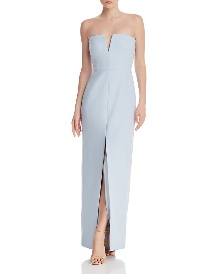 BCBG - Strapless Crepe Gown - 100% Exclusive