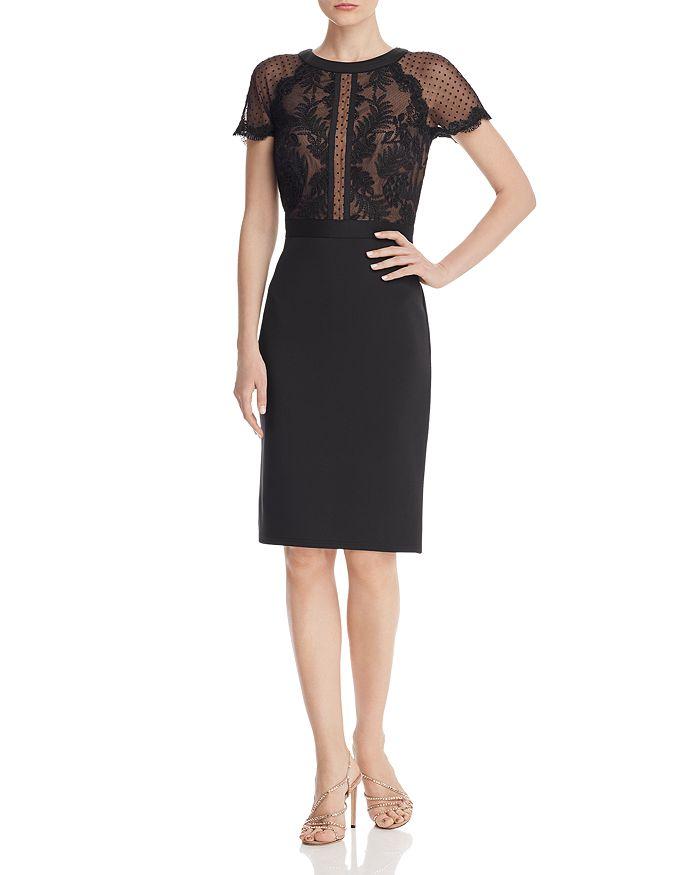 Tadashi Shoji - Lace & Neoprene Dress