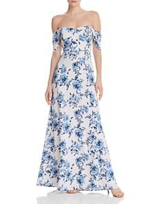 WAYF - Rachel Floral Cold-Shoulder Dress