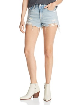 rag & bone/JEAN - Justine Distressed Denim Cutoff Shorts in Tab with H