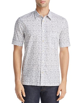 Paul Smith - Floral Short-Sleeve Slim Fit Button-Down Shirt