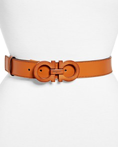 Salvatore Ferragamo - Gancini Mediterranean Leather Belt