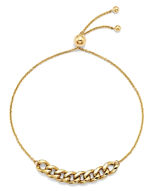 Zoe Chicco 14K Yellow Gold Large Curb Chain Bolo Bracelet-Jewelry & Accessories