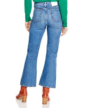Sandro - Rudolphe High Rise Flared-Leg Jeans in Blue Vintage