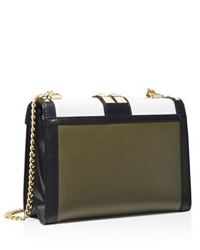 MICHAEL Michael Kors - Whitney Large Color-Block Studded Leather Shoulder Bag