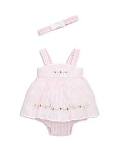 Little Me - Girls' Springtime Bodysuit-Dress & Headband Set - Baby
