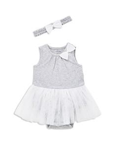 Little Me - Girls' Glittery-Tutu Bodysuit & Headband Set - Baby