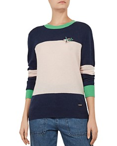 Ted Baker - Colour by Numbers Bryonny Color-Block Cashmere Sweater