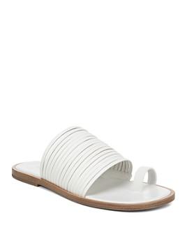 Vince - Women's Penrose Strappy Leather Slide Sandals
